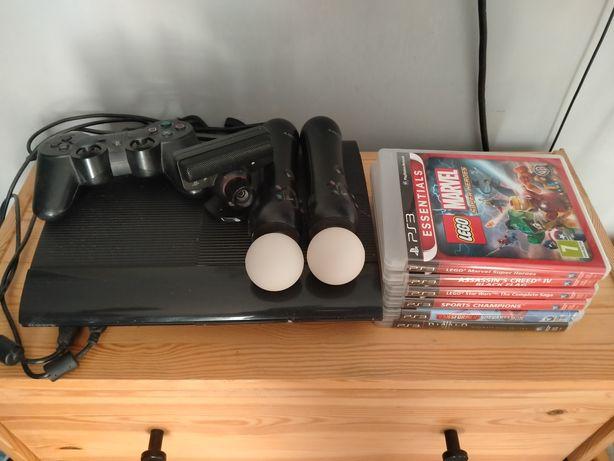 PlayStation 3 kamera, kontroler, pady,  gry, gratis okulary VR