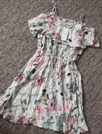 Sukienka hiszpanka kwiaty nowa L/XL