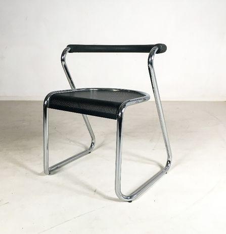 Airon włoskie krzesła chrom lata 80 vintage design bauhaus