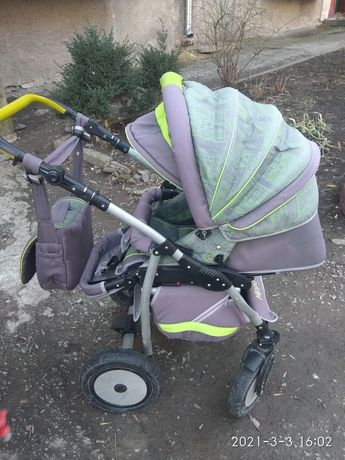 ПРОДАМ коляску 2в1 стан задовільний, колеса надувні, є сумка