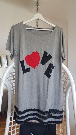 Love Moschino tunika sukienka oversize