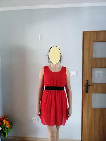 Czerwona mini sukienka r. 38