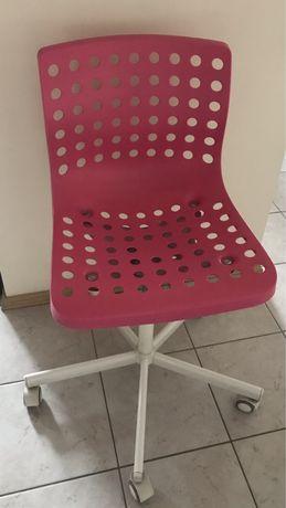 IKEA SKALBERG krzesło obrotowe różowy/biały