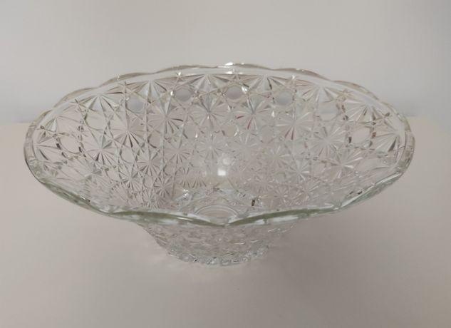 Patera owocarka prl transparentne szkło