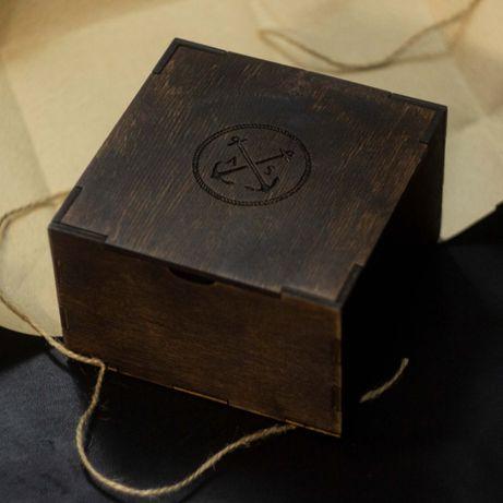 Деревянная коробка AS (Подарочная упаковка в комплекте) 12х12х8 см