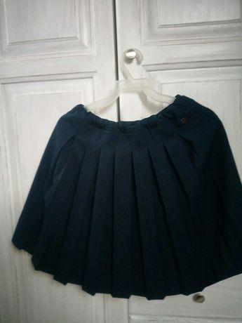 Granatowa spódnica plisowana 152