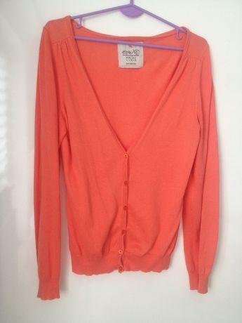 Sweter Esprit 100% BAWEŁNA r 42 (14) Koralowy damski rozpinany