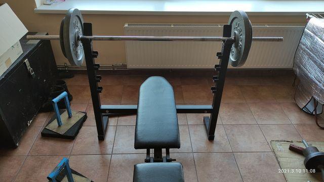Zestaw silownia stan Bdb 160kg