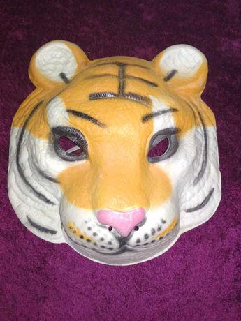 Maska tygrysa i malpki na przedstawienie lub bal
