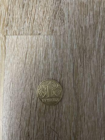 1 гривна в штемпельном блеске 2001