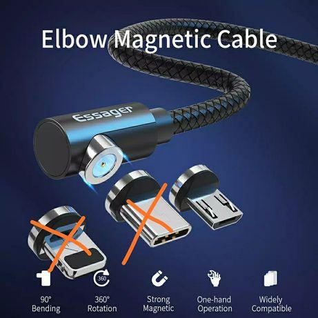 Мікро usb кабель 2 метри чорний магнітне зєднання