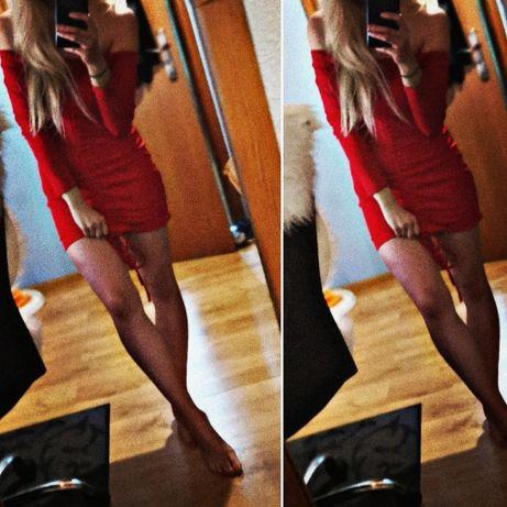 Sukienka czerwona sexowna S