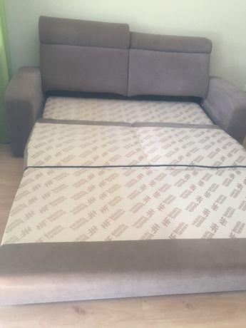 kanapa z funkcją spania pojemnik na pościel + pufa