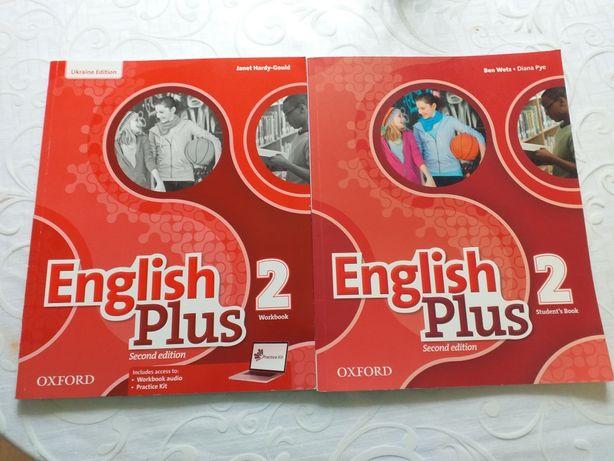 Английский, учебник и тетрадь .