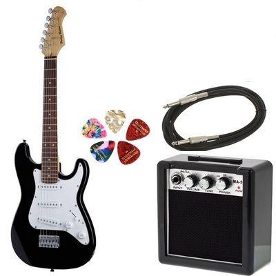 Nowa Gitara elektryczna dla dzieci Harley Benton ST wzmacniacz kabel