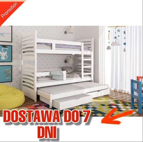 Piętrowe łóżko Olek 3 osobowe! Materace gratis! Kolory do wyboru