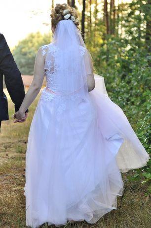 Suknia ślubna r.36-38, 155-165cm