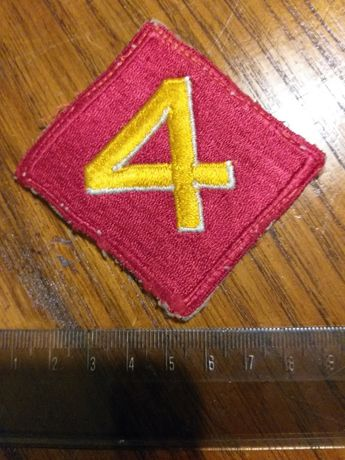 II Wojna Światowa oryginalna naszywka 4 dywizji piechoty USMC Marines