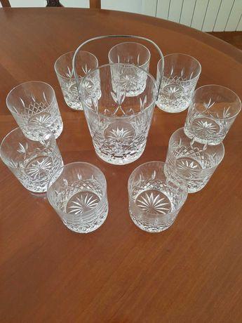 Balde de gelo e 9 copos de cristal D'Arques