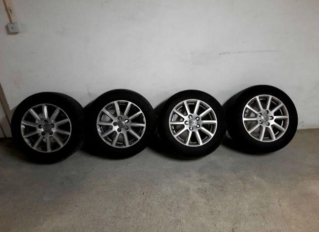 """Jantes 16"""" originais Audi com pneus"""