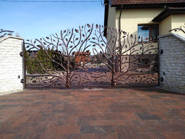 Balustrady ogrodzenia przęsła bramy kowalstwo artystyczne furtki