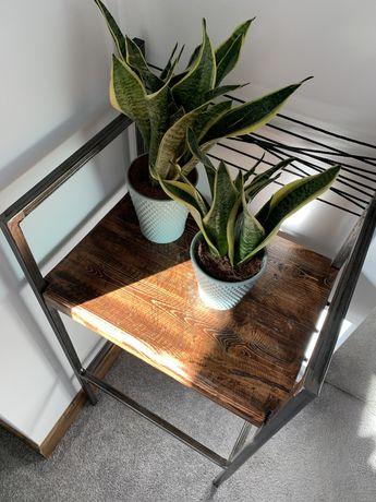 Hoker drewno metal krzesło loft