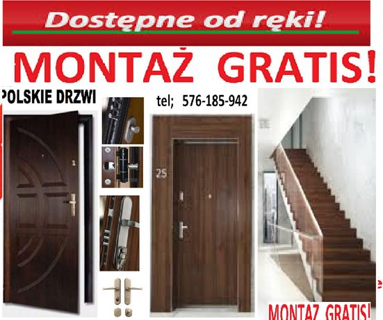 Drzwi antywłamaniowe zewnętrzne z montażem drewniane i metalowe