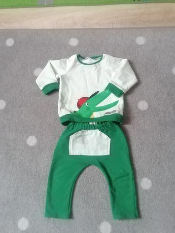 Komplet Handmade spodnie i bluza r. 86