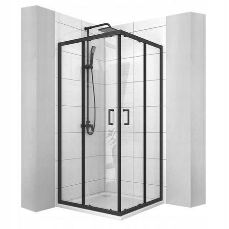 kabina prysznicowa CZARNA 80x80 PRZESUWNA VITO