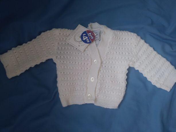 Biały sweterek 62