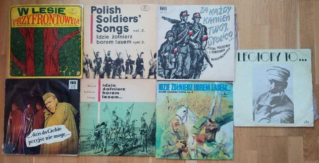 Piosenki żołnierskie - płyty winylowe - zestaw 7 tytułów