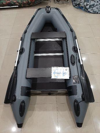 Трехместная килевая лодка надувная из пвх 270 см. Гарантия 5 лет.