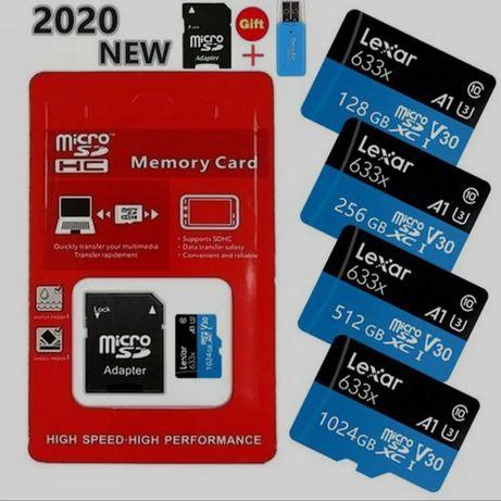 Карта памяти MicroSD class 10 128GB 256gb