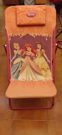 Cadeira /espreguiçadeira Princesas Disney