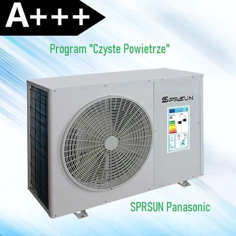 Pompa ciepła Panasonic SPRSUN . Montaż Bełchatów,  Łask