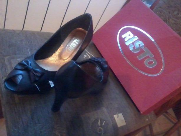 buty, czółenka, nowe, skórzane, RISTO, bez palca