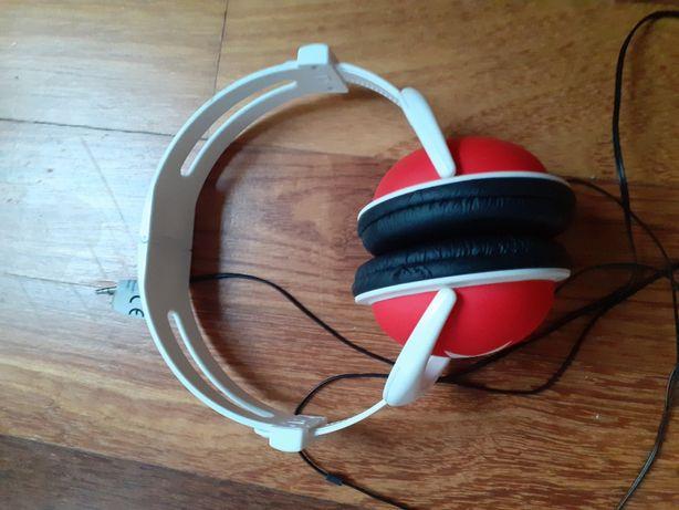 słuchawki okrągła wtyczka