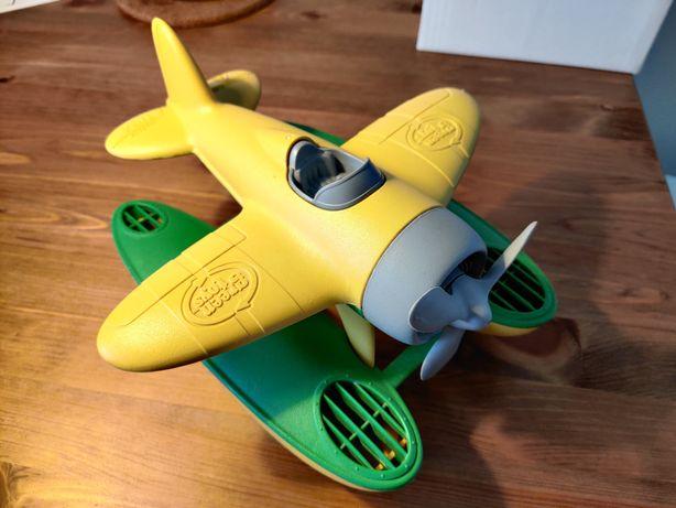 Samolot hydroplan zabawka Green Toys żółto-zielony