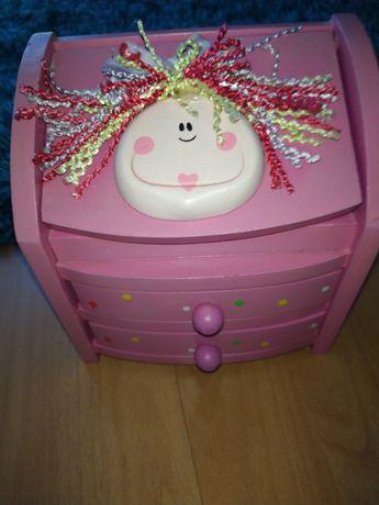 szkatułka na biżuterię dla dziewczynki różowa