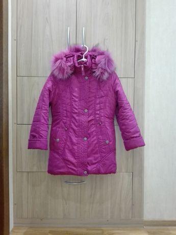 Курточка детская зимняя на девочку 8— 10 лет