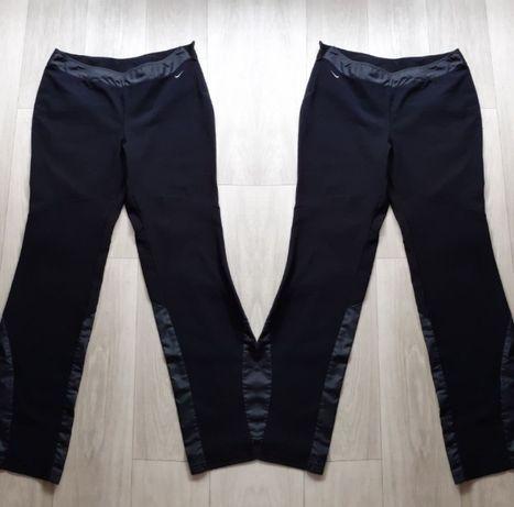Czarne dresy nike dzwony spodnie dresowe L Eco skóra