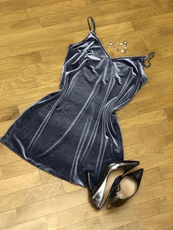 Плаття майка нарядне вечірнє платье вечернее нарядное велюр М