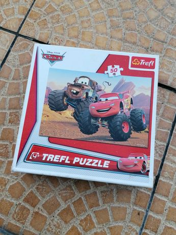 Puzzle 50 elementów auta the cars kompletne
