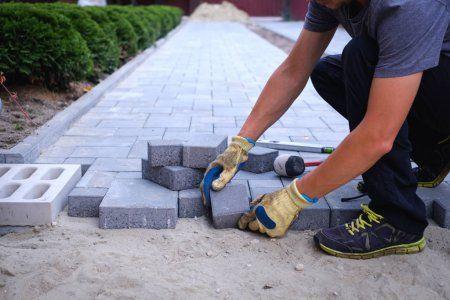 Укладка тротуарной плитки, Бетонные работы