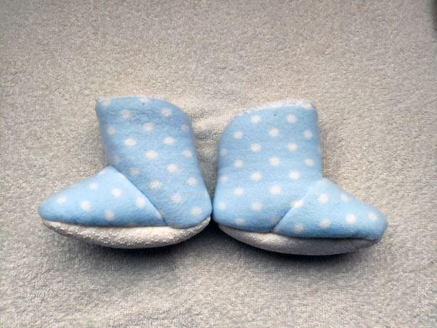 Тапочки для малыша теплые на меху