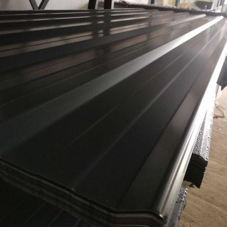 blacha trapezowa T 18 eco grafit połysk dł. 2 m TANIO