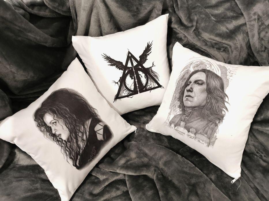 Poduszki poszewki Harry Potter Bellatrix, Snape, Insygnia śmierci Gdynia - image 1