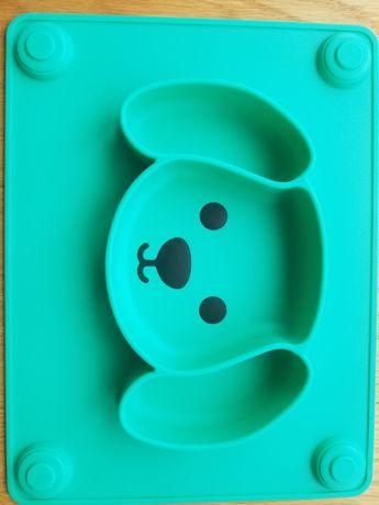 Talerzyk silikonowy piesek zielony