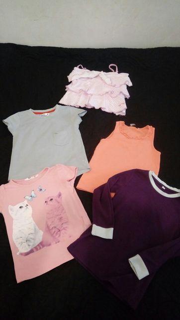 Bluzki koszulki i sweterek dziewczecy 98 104