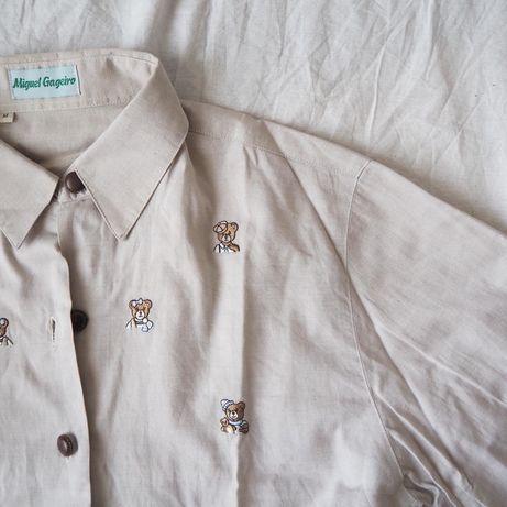 Camisa vintage com ursos